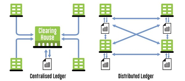 centralized-and-distributed-ledger